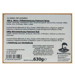 Pastrami Set Info