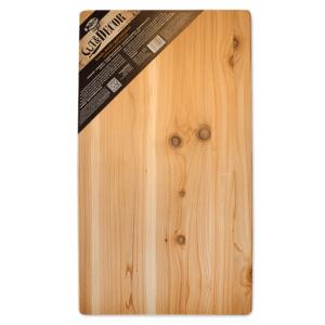 Das handgefertigte Schnitt-, Anricht- und Filitierbrett aus Western Red Cedar ist die ideale Grill Brett für BBQ. Extra grosse Arbeitsfläche (70x40cm)