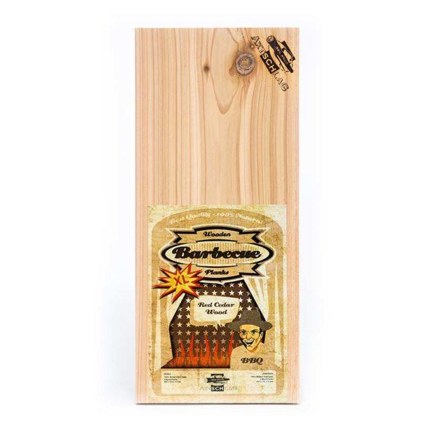 Axtschlag Grill Brett Western Red Cedar Wood - XL Grillbrett Rot Zeder