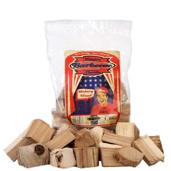 Hickory Chunks von Axtschlag