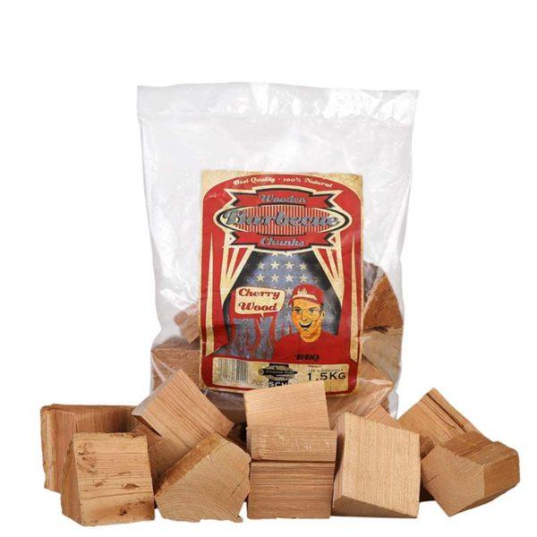 Kirsch Holz Chunks Axtschlag