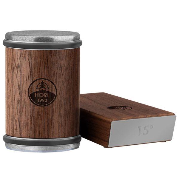Der HORL® 2 Rollschleifer Nussbaum mit Magnetschleiflehre