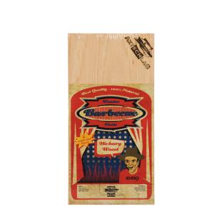 4 Stk. Axtschlag Grill Brett Hickory, für einmaligen Gebrauch