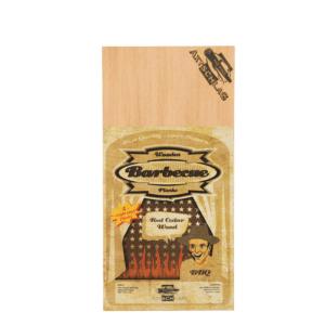 4 Stk. Axtschlag Grill Brett aus Zedernholz, für einmaligen Gebrauch