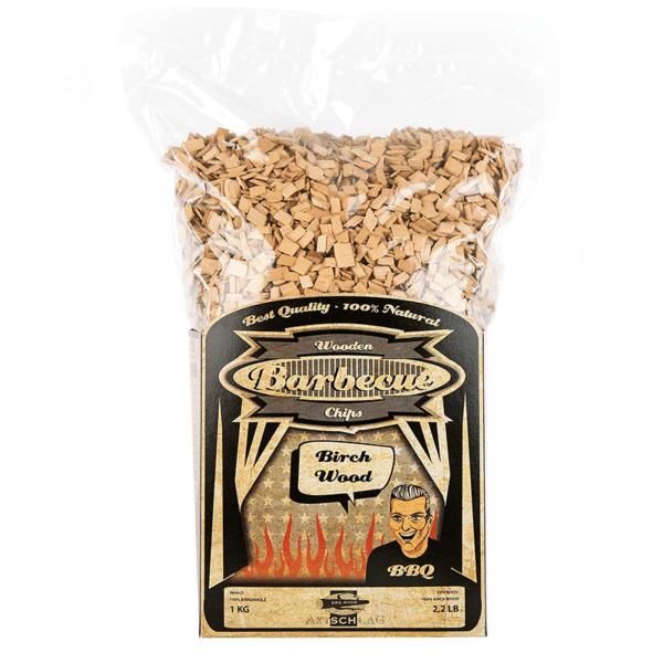 Räucher Chips aus 100% Birkenholz von Axtschlag (1kg)