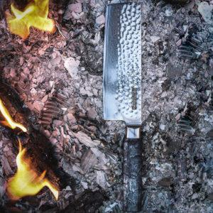 Damast Chefmesser Evolution (Burned Wood)