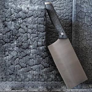 Hack Messer (Cleaver mit Burned Wood Griff)