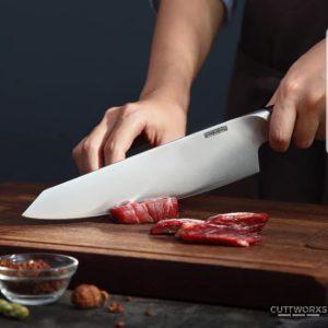 The PURE Chefmesser mit Rosenholzgriff