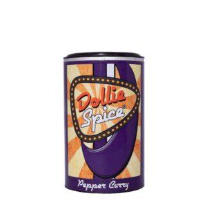 Dollie Spice Pepper Curry, das ist die würzige Kreation mit grobem schwarzen Pfeffer und dem Geschmack von Curry, begleitet durch einen Hauch Knoblauch.