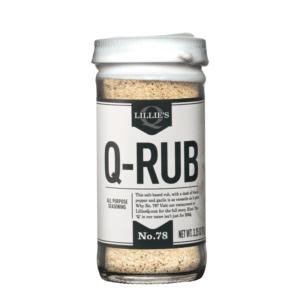 Der Lillie's Q - Q-RUB wurden hinsichtlich maximaler Flexibilität für alle möglichen Zubereitungen mit Rind, Schwein und Geflügelfleisch entwickelt.