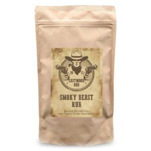 Smokey Beast ist eine rauchige Würzmischung für alle Fleischsorten. Der Geheimtip für Barbecue Geschmack aus dem Gasgrill oder Backofen