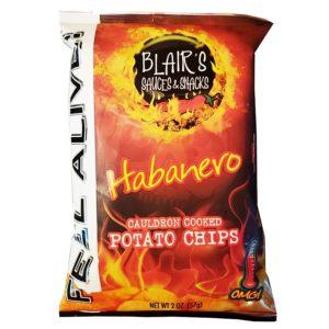 Blair's Habanero Chips gehören zu den schärfsten Chips der Welt