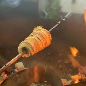 FeuerTüte Buchenholzrolle spitz für Rotisserie