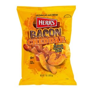Herr's Bacon Cheddar Cheese Curls Mais Flips